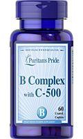 קומפלקס ויטמין B בתוספת ויטמין 500mg C שחרור מושהה